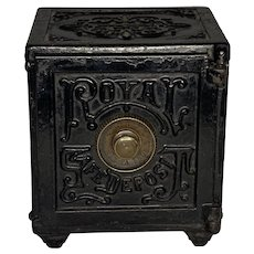Royal Safe Deposit Cast Iron Bank by Henry Hart Co.
