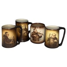 Antique Monk Mug Collection FREE SHIPPING!
