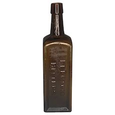 Electric Bitters H. E. Bucklen & Co. Amber Bottle c. 1890s