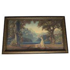 """R. Atkinson Fox """"Dawn"""" Art Deco Framed Print c. 1920s"""
