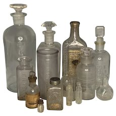 Antique Apothecary Bottle Collection