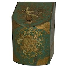 19th Century Tole Toleware Spice Canister FREE SHIPPING!