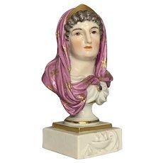 Meissen Miniature Bust of Vesta FREE SHIPPING!