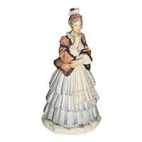 Meissen Small Figure of Lady Wearing Historic Outfit c. 1900 FREE SHIPPING!