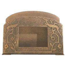 Silver Crest Arts & Crafts Bronze Desk Letter Holder