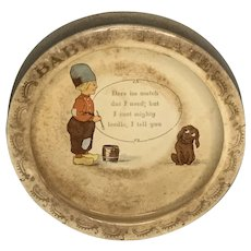 Roseville Pottery Dutch Creamware Baby Plate