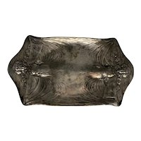 Art Nouveau James W. Tufts Silverplate Serving Tray c. 1890s
