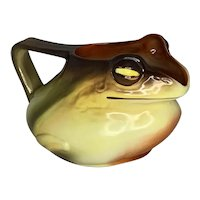 Royal Bayreuth Bavaria Frog Water Pitcher RARE c. 1920 FREE SHIPPING!