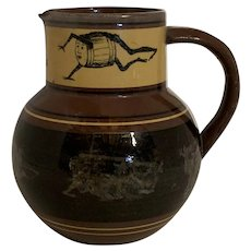 William Brownfield Pottery Bass Beer Advertising Jug c. 1860s