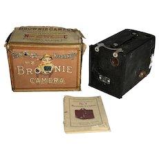 Eastman Kodak Brownie No. 2 Camera with Original Box & Booklet c. 1920s