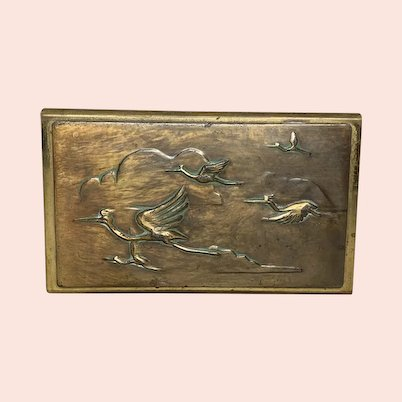 Arts & Crafts Egret Matchbox Holder FREE SHIPPING!