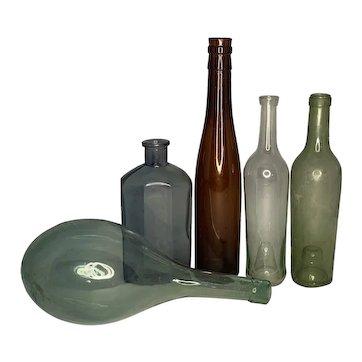 Antique Wine Bottle Collection