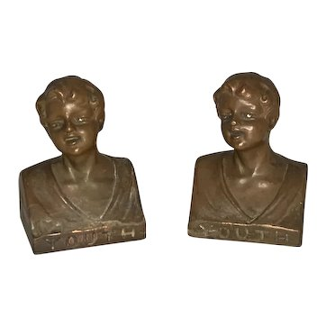 Weidlich Brothers Bronzed Youth Bookends