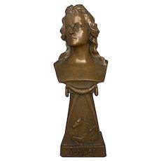 Johann Friedrich von Schiller Bronzed Cabinet Bust c. 1890-1910 FREE SHIPPING!
