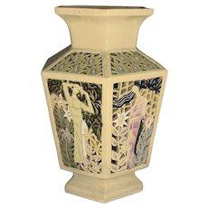 Art Nouveau Secessionist Reticulated Female Vase