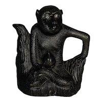 Guangxu Monkey Holding Peach Cadogan Teapot FREE SHIPPING!