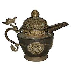 Antique Chinese Tibetan Dragon Teapot FREE SHIPPING!