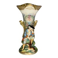 Old Paris Porcelain Bisque Figural Vase FREE SHIPPING!
