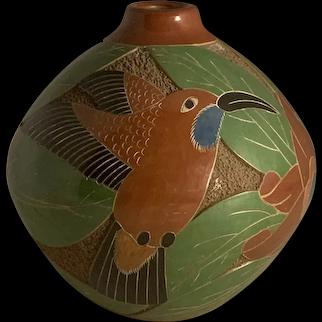 Nicaragua Studio Clay Pottery Vase by Aleyda Cano