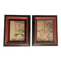 Japanese Woodblock Framed Prints P.L.B. c.23 & 24