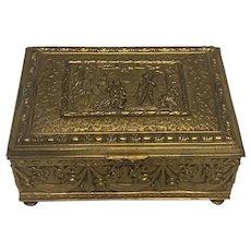 Jennings Brothers Repousse Jewelry Box JB 2735