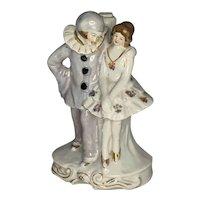Art Deco Lusterware Pierrot & Ballerina Boudoir Lamp Base