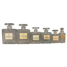 Chanel Glass Stopper Perfume Bottle Collection FREE SHIPPING!