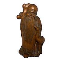 Chinese Shoulao Root Carving FREE SHIPPING!