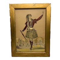 Theatrical Tinsel Print Miss Louisa Payne as Don Juan by W. S. Johnson c. 1830s FREE SHIPPING!