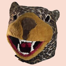 Carnival Mascot Leopard Head c. 1930s FREE SHIPPING!