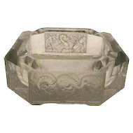 Art Deco Heinrich Hoffmann Zodiac Crystal Ashtray c. 1930s FREE SHIPPING!
