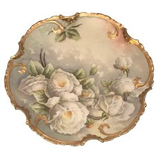 Limoges Borgfeldt Coronet Porcelain Mixtion Hand Painted Transfer Plate Artist Signed c.1906-1920 France FREE SHIPPING!