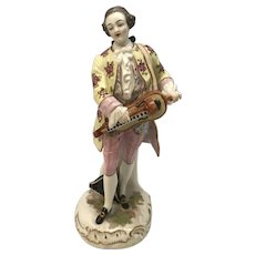 Samson Hand Painted Porcelain Musician Figurine Meissen Style