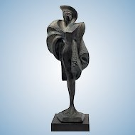 A. Danel sculpture of 5th Avenue High Fashion Lady 1991