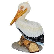 Vintage Colourful Lefton Ceramic Pelican Handpainted circa 1987