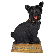 Collectible Scottish Terrier Statue 8 Inches Tall Lifelike Resemblance