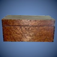 19th c American solid  Birdseye maple document box