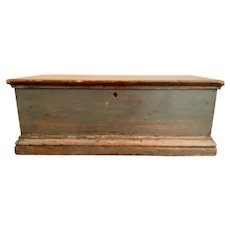 19th c American painted document box