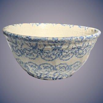 19 th century Blue and White Spongeware Bowl