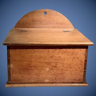 19th c PA Walnut Salt Box