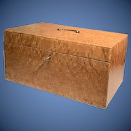 Outstanding Large 19th c Birdseye Maple Box