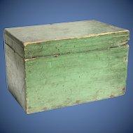 19th c Primitive Apple Green Box