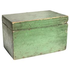 19th c Primitive Apple Green Box