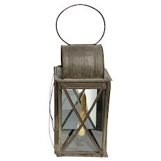 19th c Tin Toleware Candle Lantern in excellent condition for use in home decor