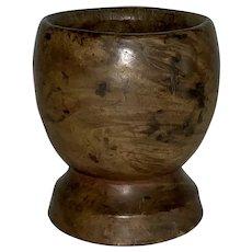 Early Burl Wood Mortar Great Diminutive Size