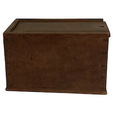 19th Century Cherry Slide Lid Candle Box