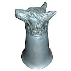 Fox Head Pewter Shot Glass
