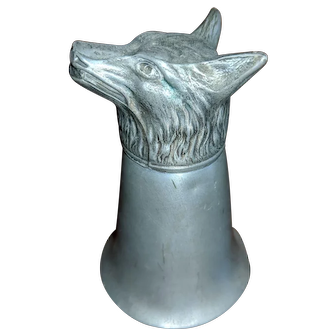 Fox Head Pewter Shot Glass