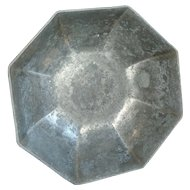 Very Unusual  Octagonal Gorham Pewter Bowl