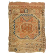 Early Turkish Prayer Rug, 18th/19th century, Oriental, Ushak